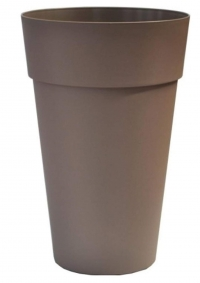 Icfal 40 γλαστρα πλαστική Ιταλίας ύψος 63cm με διάμετρος 40cm σε τιμή 29 ευρώ. Σε 4 χρώματα ανθρακι antraside λευκά  bianco  καφέ καραμελ tortora  και γκρι coolgrey. Vasar telecom Italy