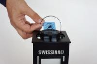 A - Απωθητικο αντικουνουπικο αοσμο  φαναρακι με ρεσο και ταμπλέτα ισχυρή Αοση.Για κουνούπια τίγρης  κ σκνιπες αιμομυζητικα έντομα .δραστική ουσία 19,78% d-allethrin.  Swissinno Ελβετικό προϊόν 4ώρες διάρκεια κάθε ταμπλέτα για εξωτερικο χώρο.Εστιατορια καφ