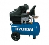 HYUNDAI Model: Η25L Ισχύς: 2,0hp Χωρητικότητα: 25Lt Απόδοση: 210Lt/min Πίεση: 8Αtm Tάση: 220V  αεροσυμπιεστες