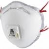 3M™ 8833 Μάσκα Σωματιδίων FFP3 RD P3 . Η κυπελλοειδής μάσκα μίας χρήσης 3M ™ 8833 προστατεύει από τα χαμηλά επίπεδα σκόνης και υγρασίας βασισμένη σε νερό και πετρέλαιο. Εξοπλισμένη με βαλβίδα εκπνοής, μειώνει τη θερμότητα που δημιουργείται σε ζεστό ή υγρό