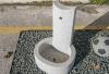 Βρυση Ερατώ Υλικό: Γρανίτης γκρι. Διαστάσεις: 47x40x70cm.  Χρήσεις: Χρησιμοποιείται σε μπαλκόνια, σε αυλές, κήπου και γενικά στον περιβάλλοντα χώρο.