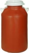 Πλαστικό Βαρελι 50lt λίτρων για γάλα κόκκινο Τροφίμων υγρών. Με λευκό άσπρο καπάκι και χερούλια. Miltoplast